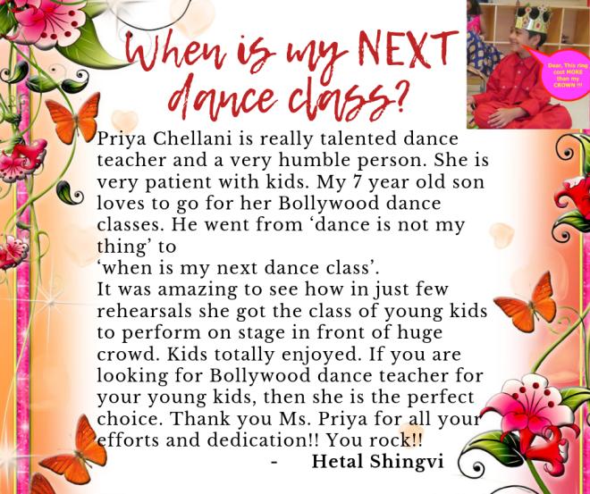 Bollywood dance kids class
