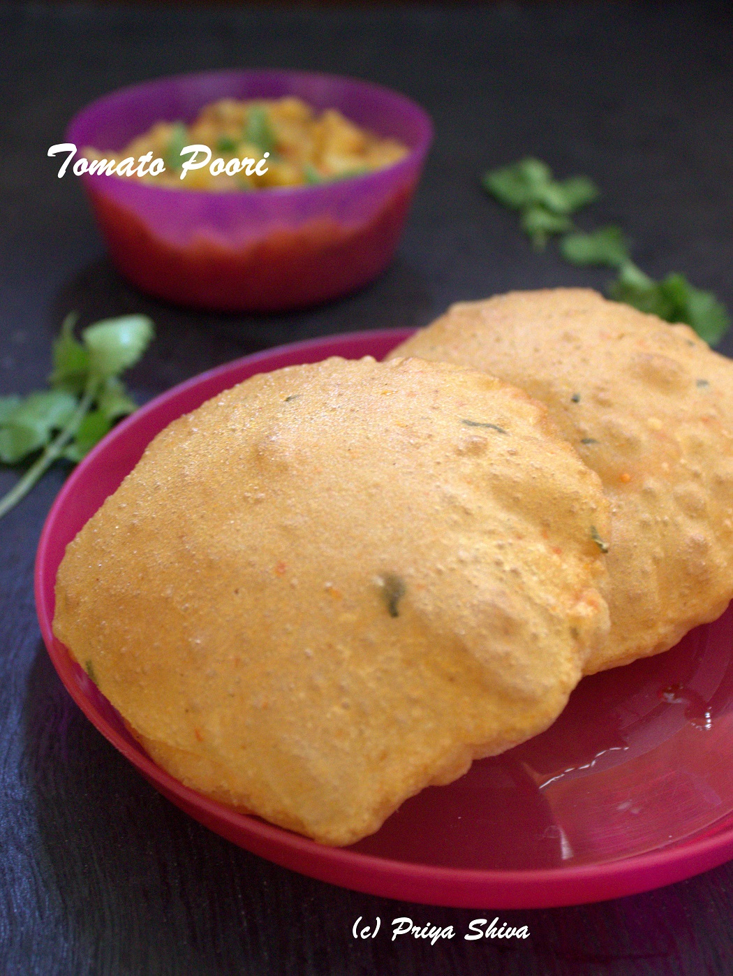 Tomato Masala Poori