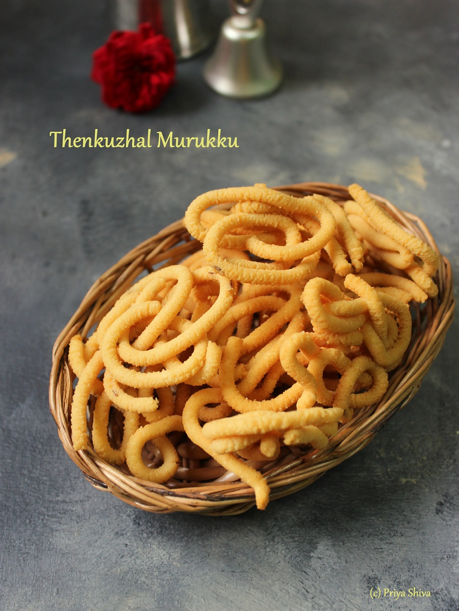 Thenkuzhal Murukku Recipe