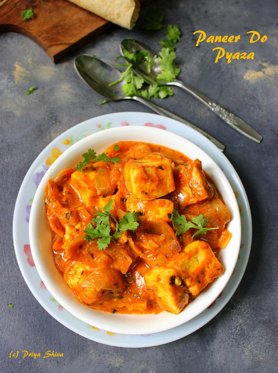 Paneer Do Pyaza Curry Recipe
