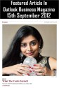 (6) Astrologer Priyanka Sawant Article On Cyrus Mistry And Tata Group Of Company In Outlook Business Magazine 15 Sept 2012