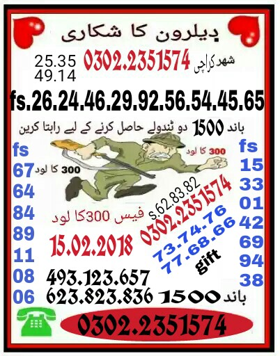 Rs. 1500 Prize bond Guess Papers 15 February, 2018 Held Karachi (4)