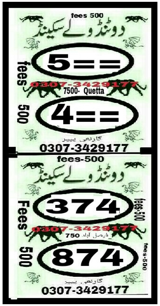 Asif malik 7500 Prize bond Guess Papers August 2018