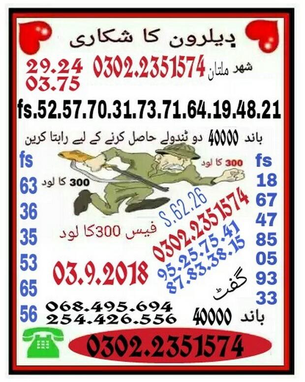 Deelron Ka Shikari 40000 prize bond guess papers