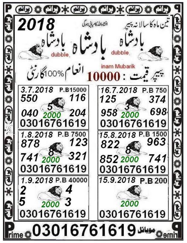 Teen Mah ka 40000 prize bond guess papers
