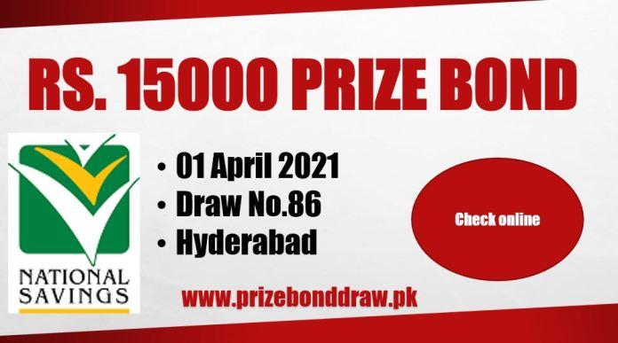 Rs. 15000 Prize bond List 01 April 2021
