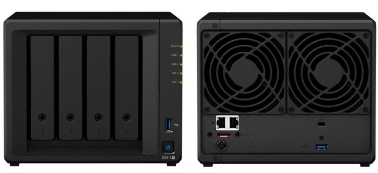 Synology DiskStation DS918+ — Best Four-Bay NAS for Plex