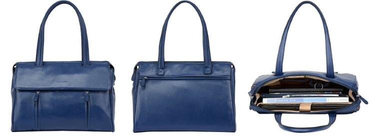 Banuce Slim Leather Briefcase Messenger Bag Review