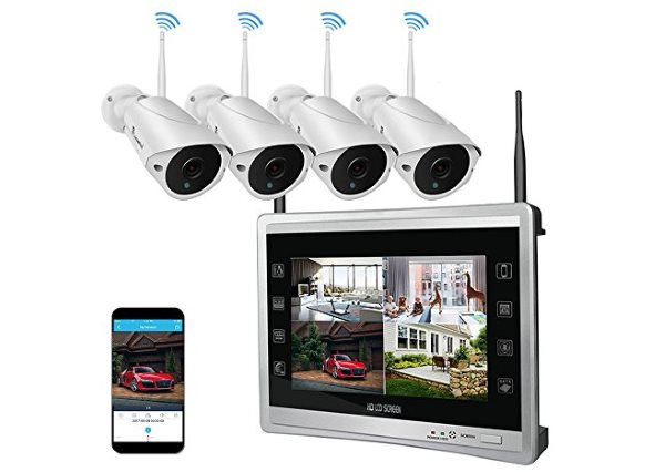 Best Outdoor Wireless Security Camera System with DVR in 2019