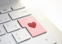 Keyboard Enter Key with a heart logo on it