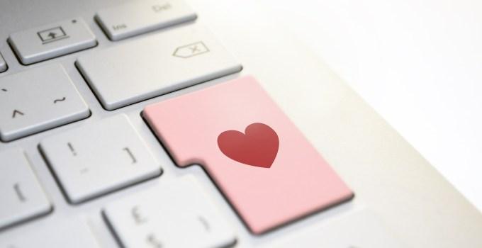 Keyboard Enter Key with a heart logo on it