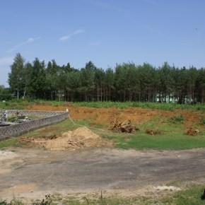 Prace związane zrozbudową cmentarza