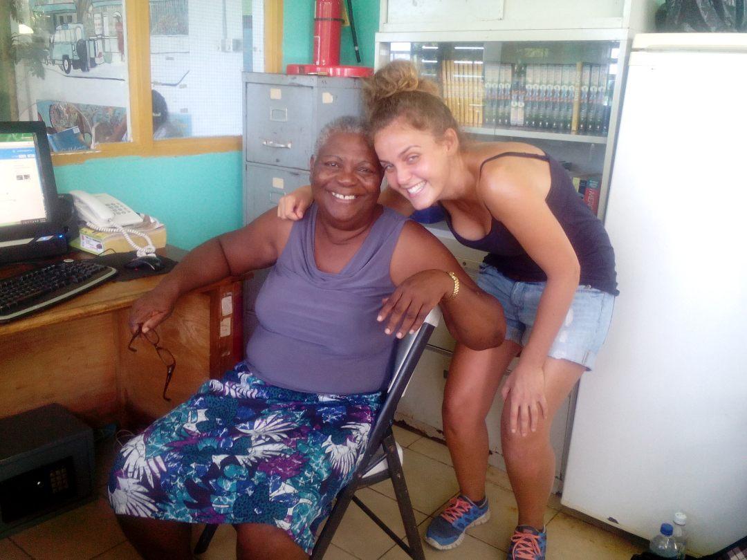 Amanda Thompson and Volunteer