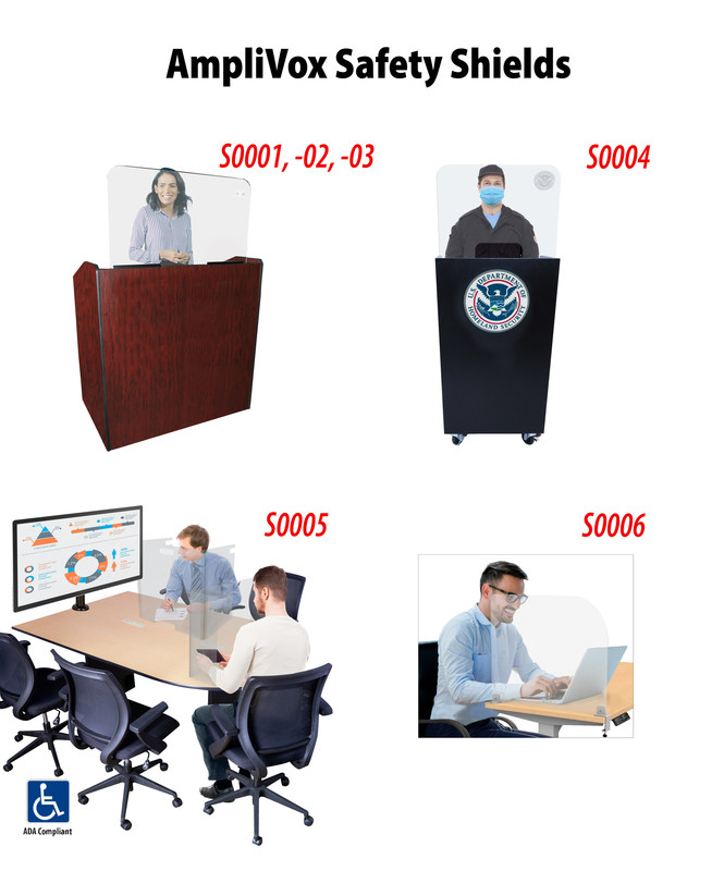AmpliVox Rolls Out Acrylic Safety Shields for Lecterns, Conferences & Meetings/Hospitality