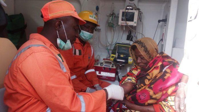 NEMA treats victim of Suicide Bomber