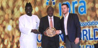 Yushau Shuaib of Image Merchants Promotion, Air Comdr Yusuf Anas of CCC Nigeria and Official representing IPRA President, Bart de Vries