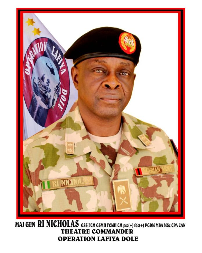 General Rogers Nicholas Theatre Commander Lafiya Dole Operation
