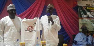 Representative of Gen Victor Ezeogwu and Yushau Shuaib at ABU Stop Fake News Campaign
