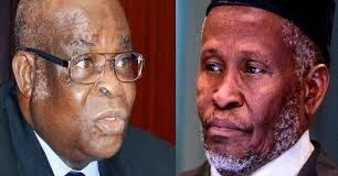 Walter Onnoghen and Tanko Muhammad