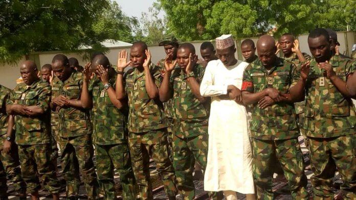 Troops in Zamfara on Sallah