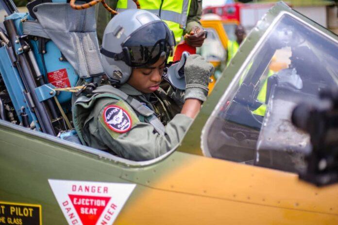 NAF Airforce female fighter Pilot