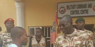 Olatunji Omirin of Daily Trust with General Buratai