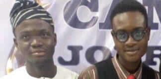 Kabir and Ibrahim young journalists