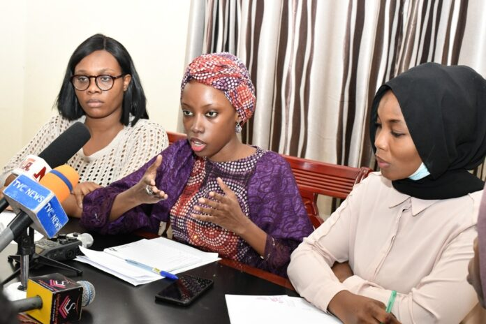 L to R Asouzu Chiamaka, Zubaidah Baba and Nafisah Bello FAIRER Female Advocates for Ethnic Relations