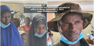 Female gunrunners, kidnappers paraded by police in Abuja September 2021
