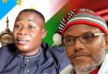 Sunday Igboho of Yoruba Nation and Nnamdi Kano of IPOB