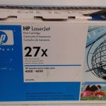 HP C4127X Black Toner Cartridge Genuine OEM 27x LaserJet 4000 4050 – Used