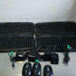 Logitech EX110 Keyboards and Logitech M-RAF95 mice – Used