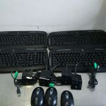 Logitech EX110 Keyboards and Logitech M-RAF95 mice – Used