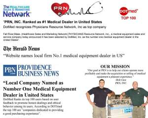 PRN, INC. Ranked as #1 Medical Dealer in United States