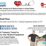 PRN, INC. Ranked as #1 Medical Dealer in United States