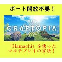 【ポート開放不要】Steam版Craftopia(クラフトピア)の「Hamachi」を使ったマルチプレイの方法について