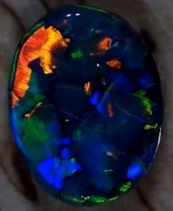 Черный опал. | Волшебный мир драгоценных камней