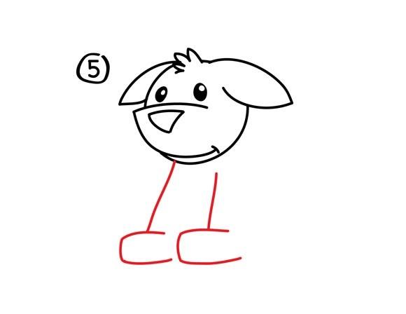 06. Как нарисовать собаку в мультяшном стиле