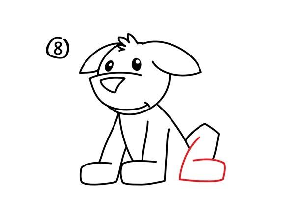 09. Как нарисовать собаку в мультяшном стиле