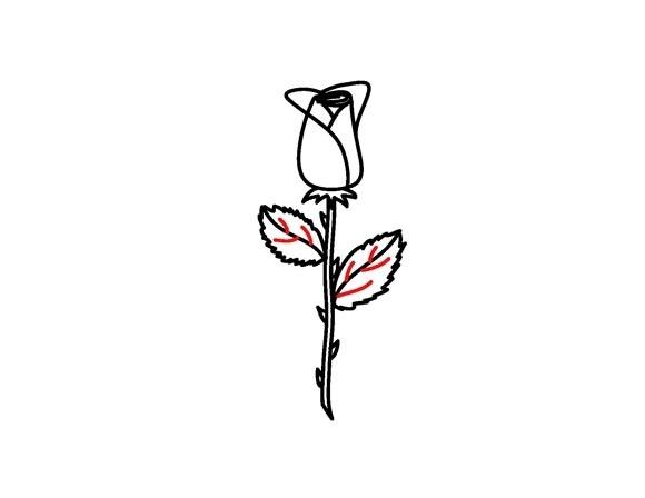 01. Как рисовать розу – самый простой способ