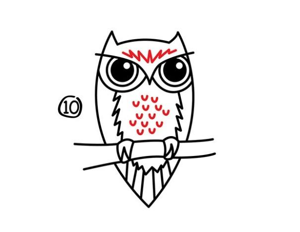 11. Как нарисовать сову – быстро и просто!