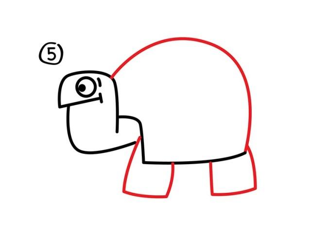 06. Как нарисовать черепаху в мультяшном стиле