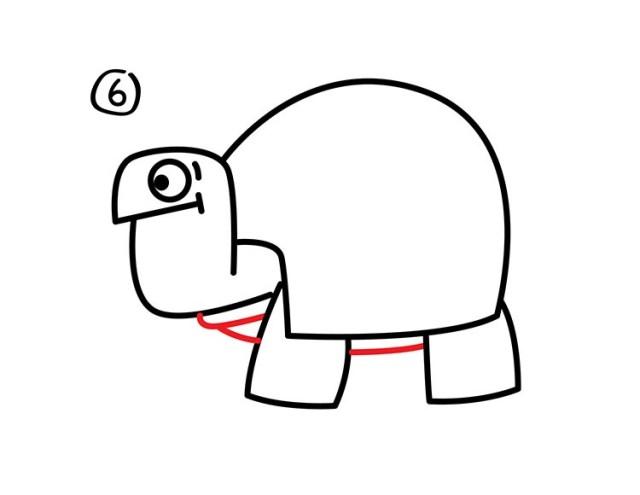 07. Как нарисовать черепаху в мультяшном стиле