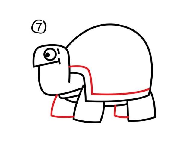 08. Как нарисовать черепаху в мультяшном стиле