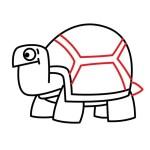 Как нарисовать черепаху в мультяшном стиле