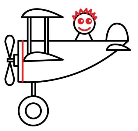 01. Как нарисовать самолет в мультяшном стиле