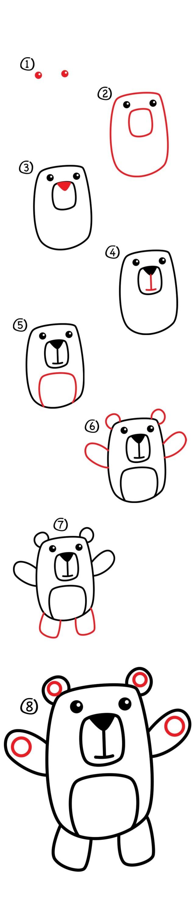 02. Как нарисовать медведя