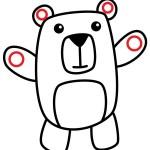 Как нарисовать медведя в мультяшном стиле