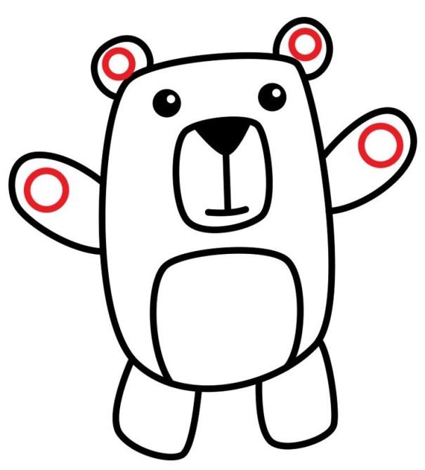 01. Как нарисовать медведя