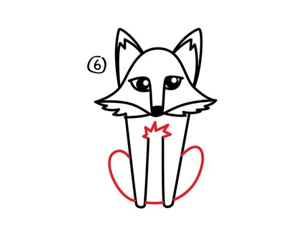 07. Как нарисовать лису в мультяшном стиле